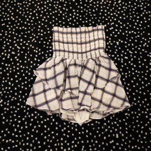 Planet blue checkered skirt